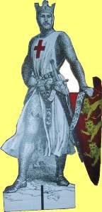 Der englische König Richard Löwenherz im Gewand eines Templers