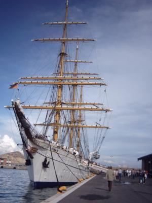 Segelschulschiff Gorch Fock 2003 in Alicante